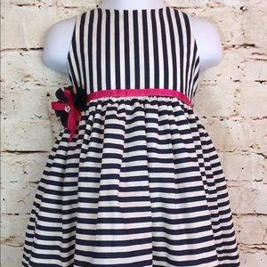 Melli Johari  nautical striped toddler dress 18m